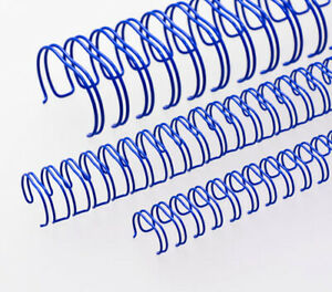 """Renz Premium Quality 6.9mm (1/4"""") A5 3:1, 24 Loop Binding Wires, Blue"""