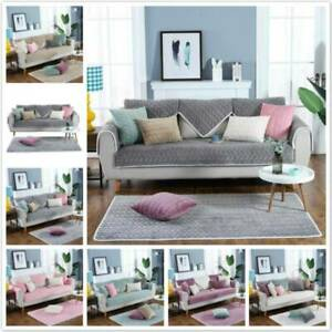 Slipcover Polyester Reversible Plush Seat Protector Mat Living Room 70*70cm YO
