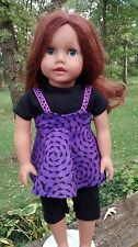 3 piece Fall Halloween outfit fits American Girl Doll  Handmade  New