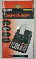 Sharp EL-2196BL Basic Desk Calculator 12 Digit 2 Color Printer Adding Machine