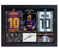 Lionel Messi Argentina national Barcelona autograph signed poster photo Framed.