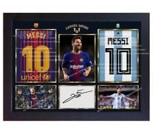 Lionel Messi Argentina national Barcelona autograph signed poster photo Framed.