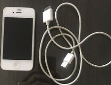 Unlocked Apple iPhone 4s 8GB White With Box. BROKEN FOR PARTS