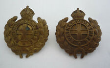NORTHAMPTONSHIRE REGIMENT PAIR OF COLLAR BADGES