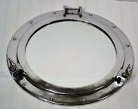"16"" Porthole Mirror Chrome Nautical Maritime Decor ~ Large Ship Cabin Window"