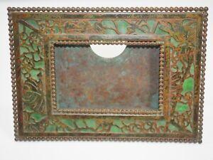Tiffany Studio Bronze & Scories Verre Bureau Calendrier