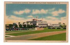 WASHINGTON National Airport D.C. USA 1940s Postcard