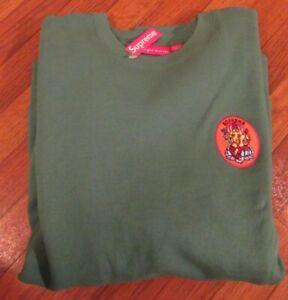 Supreme Ganesh Crewneck Sweatshirt Size Large Green SS18 SS18SW72 Brand New 2018