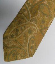"Gold Paisley VERRI UOMO Silk Tie.  Made in ITALY.  3.5"" Wide 58"" Long"