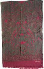 -Authentique    Echarpe  LANCOME 100% laine TBEG  vintage Scarf