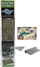 CLEAN DOORMAT SUPER ABSORBENT STEP MAT TRAPS DIRT & WATER INSTANTLY DUST