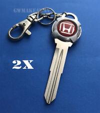 2x Red Chain Honda Civic Accord Prelude CR-V Odyssey CRX Integra Acura Key Blank