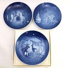 3 Bing & Grondahl Christmas Plates ~ 1979 1980 1981