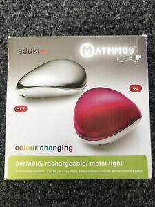 RARE Mathmos Aduki Ni Chrome Pebble Lamp/light Blue/Red. Requires Mains Power