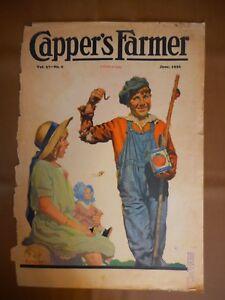 Vintage Cover June 1926 Magazine Capper's Boy with worm Girl JF Kernan