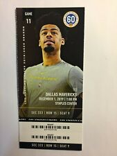 LOS ANGELES LAKERS VS DALLAS MAVERICKS DECEMBER 1,2019 TICKET STUB