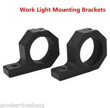 "1.5"" 2"" Adjustable Mount Bracket Clamps For LED Work Light Bar Bullbar Roll Cage"