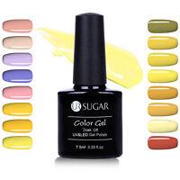 7.5ml Nude Yellow Color Nail Art Soak Off Gel Polish Manicure UV LED Pure Gel