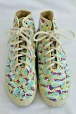 New Women's Teal Camouflage  High Top Canvas Casual Shoes Size US 8.5 Startas