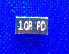 x5 ACB PD SOLID Palladium BULLION MINTED 1GRAIN BAR 999 Pure +
