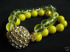 "Brand New Jcrew Double Strand Crystal Clasp Bracelet 7.5"""