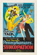 Bert Glennon Syncopation 1929 vintage movie poster