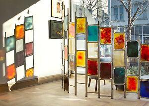 Dalle de Verre Slab Glass / Metal / Mesh Multi-Colored Custom Designed Screen