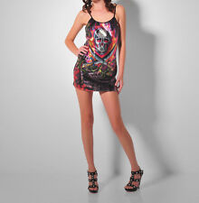 Ed Hardy Sequence Hot Skull Attractive Dress Size S