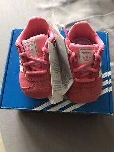 Baby Girls Adidas Gazelle Crib Trainers Shoes Infant Size UK 1 1k  New In Box