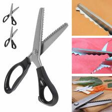 Stainless Steel Dressmaking Scissors Pinking Shears Craft Zig Zag Cut MK