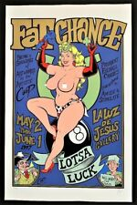 Fat Chance POSTER Lotsa Luck Gallery Show Limited Numbered Edition Signed Coop