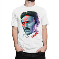 Tesla David Bowie Art T-shirt, Science Tee, Men's Women's All Sizes