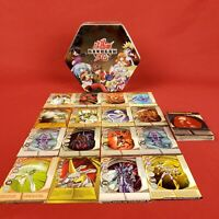 2008 Bakugan Battle Brawlers Tin with 38 Cards 16 Magnetic
