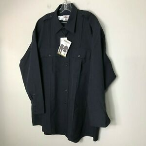 Elbeco Classic TexTrop Long Sleeve Shirt, Men's, Dark Navy 314 New with Tags