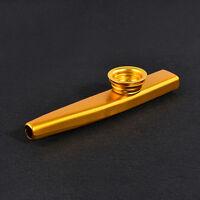 Golden Metal Kazoo + 6Pc Kazoo Flute Diaphragm Mouth Flute Harmonica Kid - Party