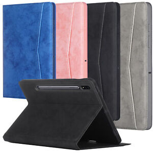 """For Samsung Galaxy Tab S7 FE/S7 Plus 12.4"""" Magnetic Pu Leather Case Smart Cover"""