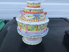 Partylite ~ Ceramic Celebration Birthday Cake Tealight Candle Holders