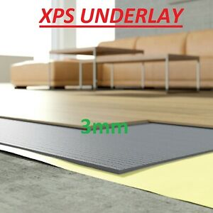 XPS Underlay Insulation 3mm  - Wood or Laminate Flooring - Like Fibreboard