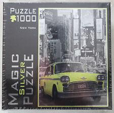 M.I.C. Magic Silver Puzzle New York - gelbes Taxi - 1000 Teile - Metallic - Neu