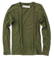 J Crew - Womens XL - NWT - Military Green Long Sleeve Cotton Crew Neck Tee