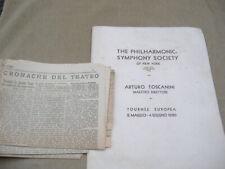 "LIBRETTO 1930 ""TOSCANINI TOURNEE EUROPEA-PHILARMONICSIMPHONY SOCIETY"" illustrato"