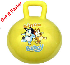 Bluey Hopper Ride On Bouncey Ball Kid's Toy -New In Box Yellow