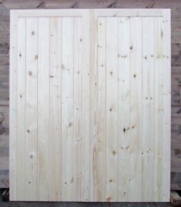 Wooden Garage Doors Heavy Duty Frame, Ledge & Braced