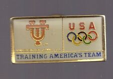 1996 Atlanta License Plate Olympic Pin USA Training Tennessee Univ Smokey Tag