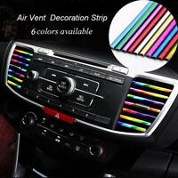10X Car Air Conditioner Outlet Vent Grille Decor U Shape Molding Trim Strip Kit