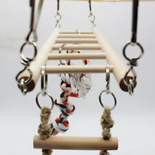 Bells Cage Bird Parrot Hammock Large Macaw Toys Wooden Ladder Hanging Swing Pet