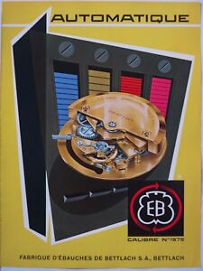 vintage 1958 color print ad BETTLACH 1575 Swiss watch movement MID CENTURY ART