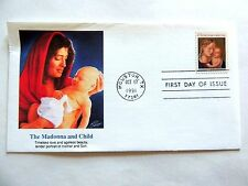"""October 17th, 1991 """"The Madonna and Child"""" First Day Issue"""