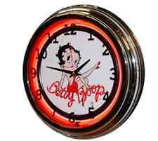 BETTY BOOP NEON CLOCK