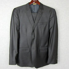 Reid & Taylor Mens Bespoke Custom Wool Blend Suit Size 40R Pants Blazer